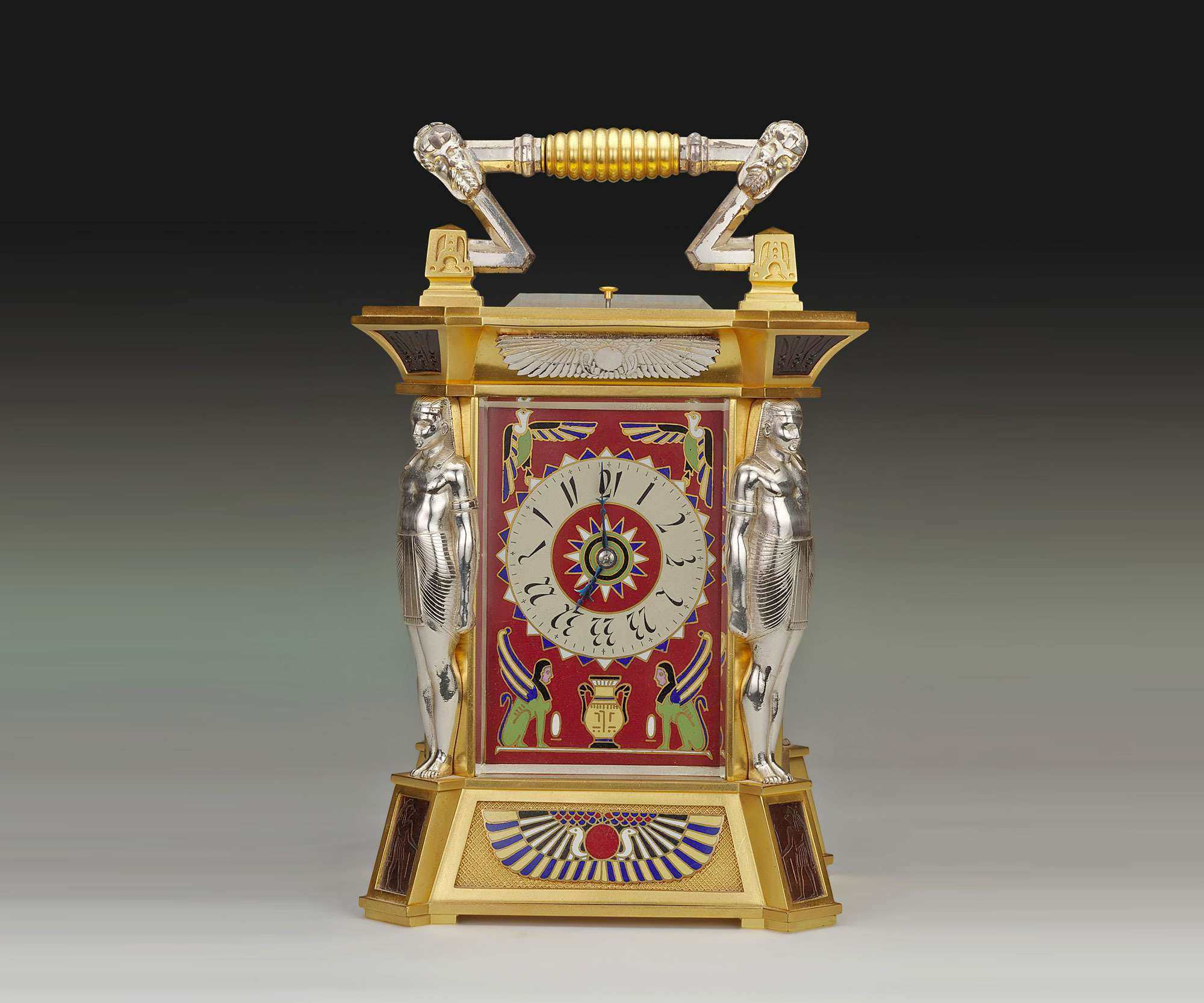 Egyptian Revival Carriage Clock