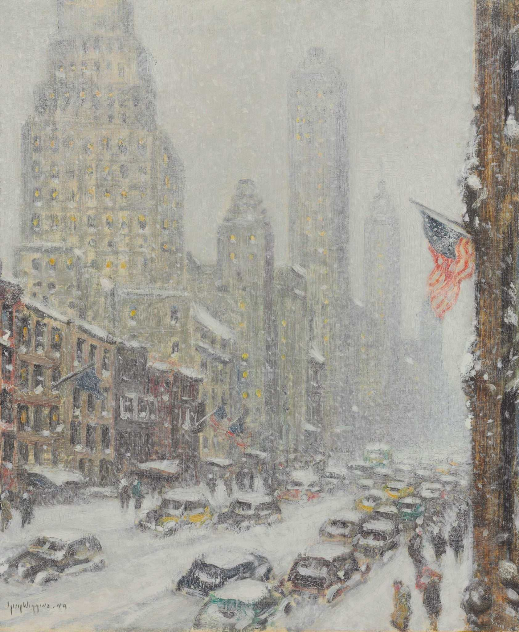 57th Street • Guy Carleton WIGGINS (American,1883-1962)