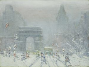 Washington Square Park Painting. Oil on canvas. 12 x 16 inches